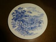 Vintage Blue Countryside Scene Wedgewood Co China England Bread Butter Plate 7