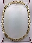 Men's 10k Yellow Gold Solid Watch Link Chain Necklace 26 8.5mm 63 Grams