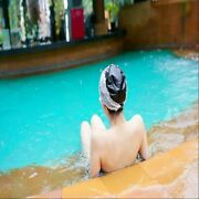 Japanese Lady Swimming Cap Hat Lace Bath Ear Protection Long Hair Waterproof New