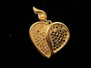 Signed Lenox 925 Sterling Heart Shaped Pendant With Clear And Black Rhinestones
