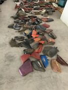Vintage Motorcycle Side Covers Plastics Collection About 270 Pieces