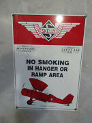 Vintage Skelly Gas Oil No Smoking In Hanger Or Ramp Area Sign Ande Rooney 9x13