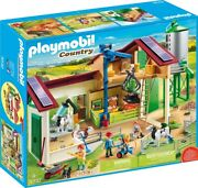 Playmobil 70132 Country Farm With Animals 255pc Playset