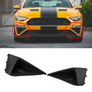 Bumper Fascia Corner Fog Vent Arch Wing Side Decor Fit For Ford Mustang 2018-19