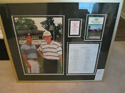 Rare Tiger Woods Ernie Els 1994 Buick Open Westchester Cc Golf Picture Framed