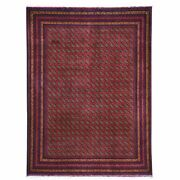 Hand-knotted Afghan Tribal Turkoman Bokhara Pure Wool Rug 5.1 X 6.9 Brral-6540