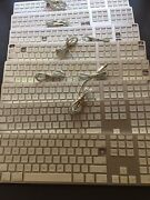 Lot Of 8 Genuine Apple Aluminum Wired Keyboard W/ Numeric Keypad A1243 For Parts