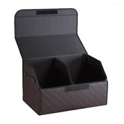 Multipurpose Collapsible Car Trunk Storage Organizer W/lid For Travel Shopping