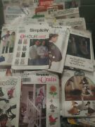 Lot 50 Vintage Sewing Patterns And Craft Magazines Simplicity Mccalls Butterick