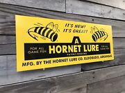 Antique Vintage Old Style Hornet Fishing Lure Sign