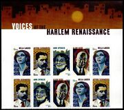 Us Scott 5471-5474 Block Of 10 Stamps Mnh Voices Of The Harlem Renaissance