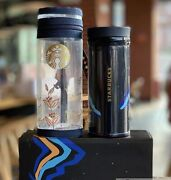 Starbucks 2020 China Summer Blue Mountains Thermos 8oz Tumbler And Cup Cover Set