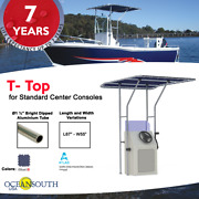 Oceansouth Boat T-top For Standard Center Console Boat Blue Size 2