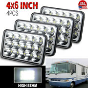 4pcs 4x6and039and039 45w Led Headlights Sealed Beam High Low For Motorhome Rv Motor Homes