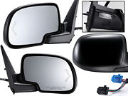 For 2003-2007 Gm Pickup Truck Mirror Power Folding Signal Puddle Right Left Pair