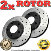 Rh0768 Front Cross Drilled Brake Rotors For 2001 2002 2003 2004 Town And Country