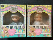 Pair Of 1992 Rose Art My First Precious Moments Baby 6 Vinyl Dolls Boy And Girl
