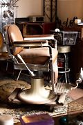 Emil J. Paidar Antique Barber Chair Made In Chicago Authentic