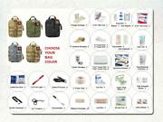 85 Piece Tactical Trauma Survival Edc First Aid Kit W/ Molle Rip-away Pouch Bag