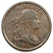 1804 C-6 R-2 Rare 4.0 Die State Draped Bust Half Cent Coin 1/2c