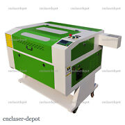 80w Co2 Laser Cutter Engraving Machine Rdworks 28 X 20 W Chiller Motorized Bed