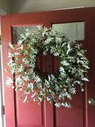 """Country White Daisy Floral Wreath Farmhouse Cottage Summer Door Floral 27"""""""