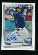 Wander Franco Auto 2020 Bowman Paper Autograph Tampa Bay Rays Rookie Card Rc
