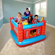 Fisher-price Bouncetastic Inflatable Castle Bouncer With Removable Mesh Walls