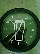 Rare Official Guinness Beer Advertising Promo Metal Wall Clock 11 Round