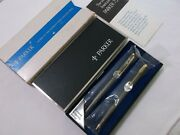 Parker 75 Sterling Silver Ballpoint Pen And 0.9mm Pencil Set / New In Box / Usa