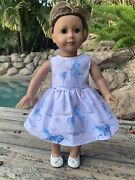 """Frozen Dress For 18"""" Doll. Fits American Girl/our Generation/ Baby Born Dolls"""