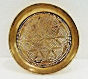 1930 Brass Handcrafted Hand Forged Old Or Vintage Sieve Plate Or Water Drainer