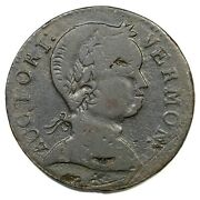 1786 Rr-9 R-4 Baby Head Vermont Colonial Copper Coin