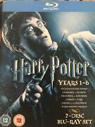 Harry Potter Years 1-6 Region Freeblu-ray Disc, 2009, 7-disc Set Pre Owned