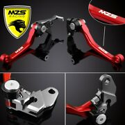 Red Mzs Pivot Brake Clutch Lever For Crf125f 2014-2019 | Crf150r 2007-2019 1set