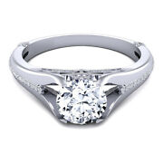 Round 0.80 Ct Real Diamond Wedding Ring For Ladies Solid 14k White Gold 5 6 7 8