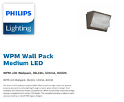 Philips Stonco Led Wall Pack Bronze Wpm-led-36l-530-nw-unv-bz 3000 Lum 1458375