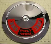 Poly Or Sb Mopar Air Cleaner Decal For 14 Air Cleaner Lids