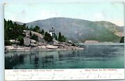 West Point Ny 1907 Light House Old Crow Nest Mountain Hudson River Postcard A60