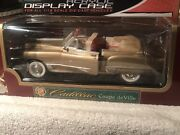 Road Legends 1/18 Scale Diecast 1949 Cadillac Coupe Deville Gold And Display Case