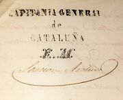 Lot Of Documentation Of The General Captain Of Catalunya. Spain. Circa 1840