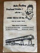 1956 Lionel Trains Hand Controlled No. 1022 Switches Instructions O27gauge 4 Pg