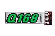 Stiffie Air Speed Ar05 Boat Id Number Decal Registration Stickers Green Black