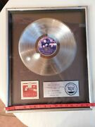 Riaa Eagles Live 1000.000 Sales Presented To Mike Rosenfeld 17x21 Brf