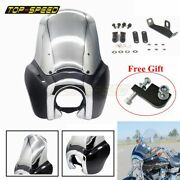 For Harley Club Style Dyna Super Glide Fxr Fxdxt T-sport Front Headlight Fairing