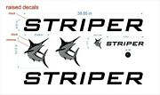 Striper Boats Emblem 39 Black + Free Fast Delivery Dhl Express - Raised Decals