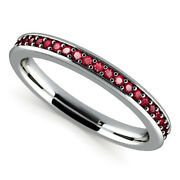 Round 1.56 Ct Real Ruby Gemstone Ring 14k White Gold Engagement Size 5 6 7 8 9