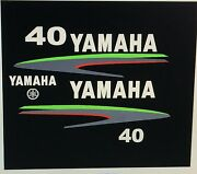 Yamaha 40 Hp Outboard Decal Custom Lime Green Kit Send Message For 50 - 90