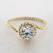 Brilliant 0.50 Ct Natural Diamond Engagement Ring Solid 14k Yellow Gold Size 7 8