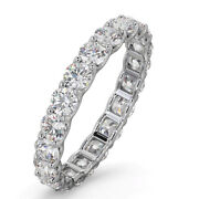 2.00 Ct Real Diamond Ladies Wedding Band Solid 14k White Gold Ring Size 6 7 8 9
